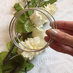 Jewelry - 🆑 FINAL CHANCE! 💠 Silver Bangles (3)